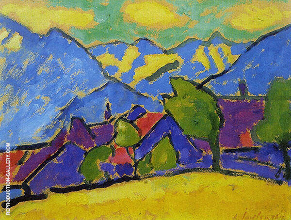Yellow Sound 1908 Painting By Alexej von Jawlensky - Reproduction Gallery
