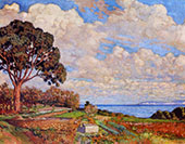Large Tree near The Sea By Theo van Rysselberghe