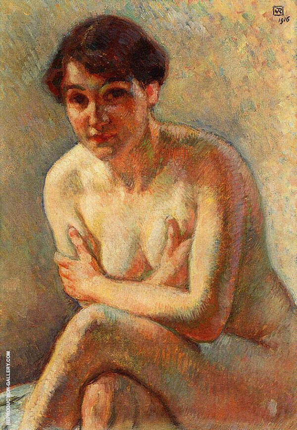 Nude Woman By Theo van Rysselberghe