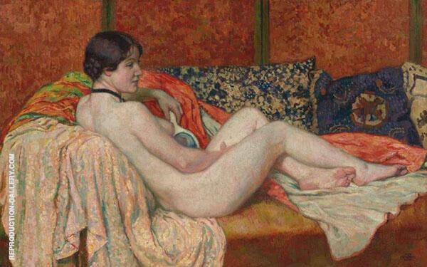 Resting Nude 1914 By Theo van Rysselberghe