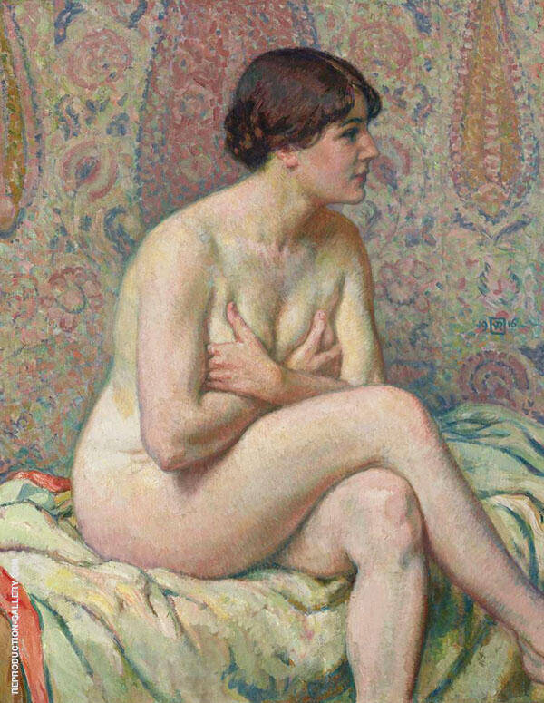 Seated Nude 1916 By Theo van Rysselberghe