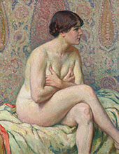 Seated Nude 1916 By Theo van Rysselberghe