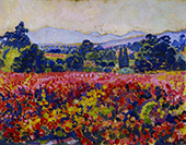 Study for Vines in October By Theo van Rysselberghe