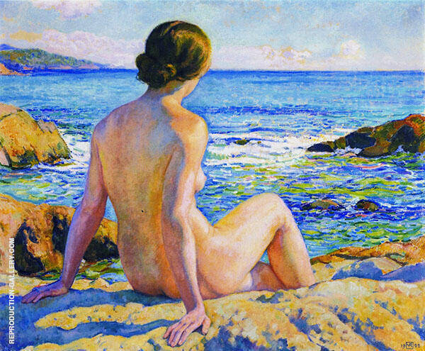 Swimmer Resting By Theo van Rysselberghe