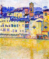 The Arno in Florence By Theo van Rysselberghe