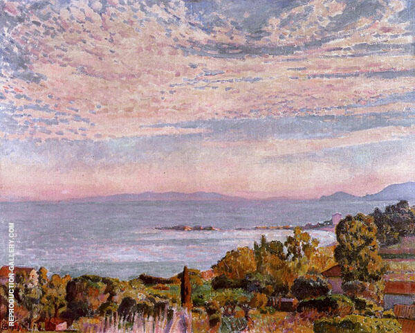The Bay of Saint Clair By Theo van Rysselberghe