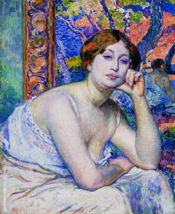 Rysselberghe The Model By Theo van Rysselberghe