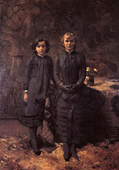 The Schlobach Sisters 2 By Theo van Rysselberghe