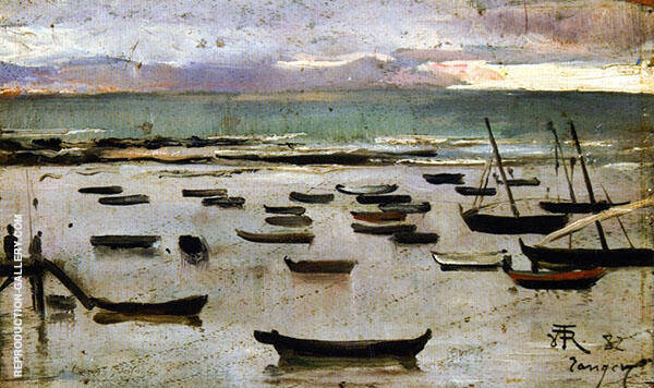The Straits Sunset Tangiers By Theo van Rysselberghe