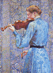 The Violinist 1903 By Theo van Rysselberghe