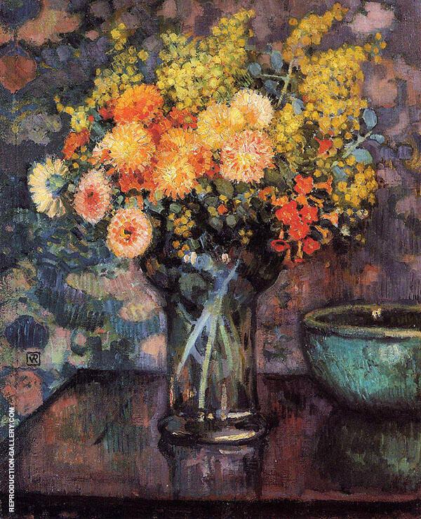 Vase of Flowers 1911 By Theo van Rysselberghe