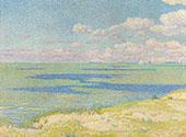 View of The Scheldt 1893 By Theo van Rysselberghe