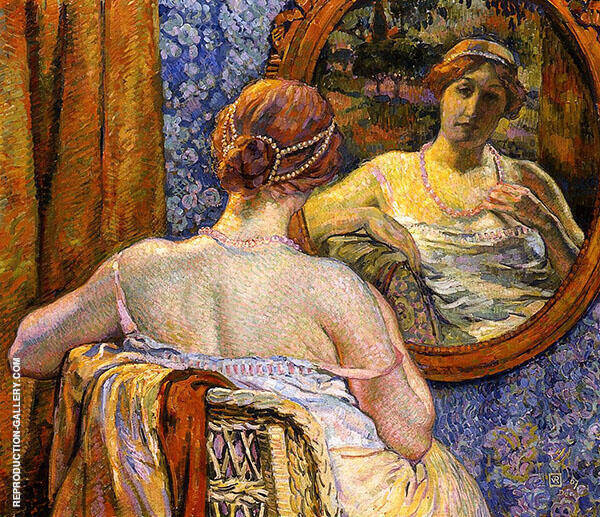 Woman at a Mirror 1907 By Theo van Rysselberghe