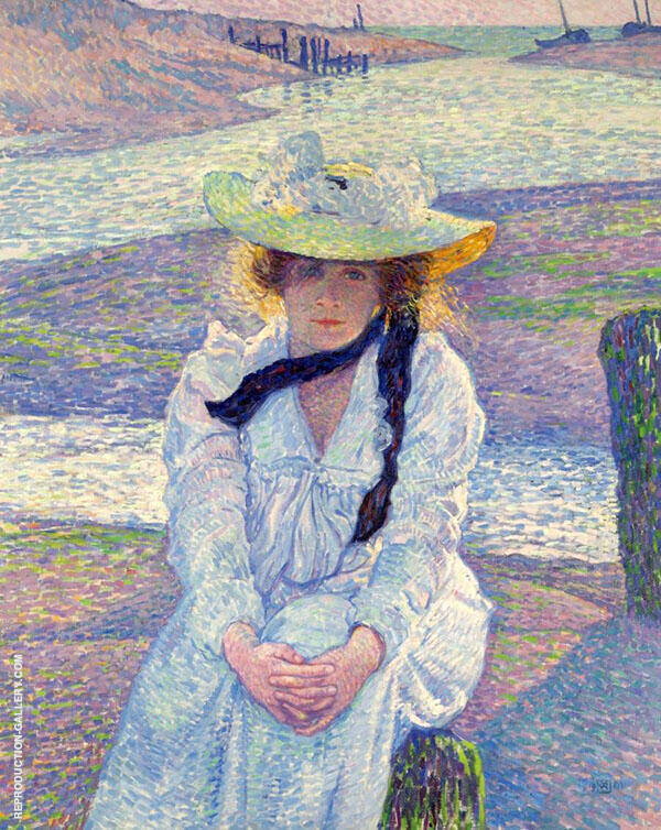 Young Woman on The Sand Shore 1901 By Theo van Rysselberghe