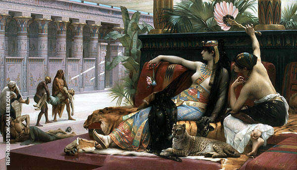 Cleopatra Testing Poisons on Condemned Prisoners Painting By ...
