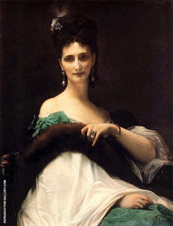 Comtesse Kelle 1873 by Alexandre Cabanel | Oil Painting Reproduction Replica On Canvas - Reproduction Gallery