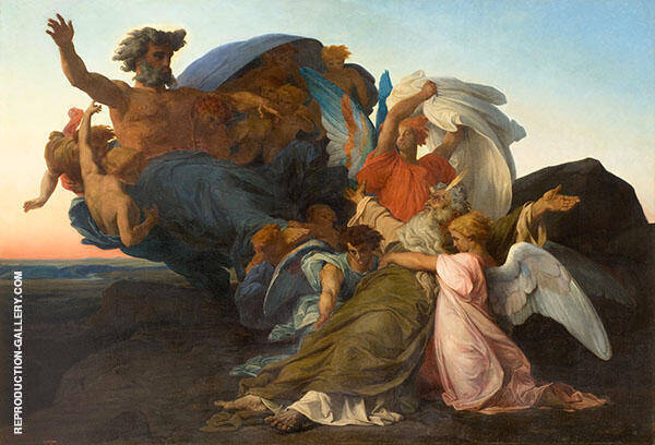 Death of Moses Painting By Alexandre Cabanel - Reproduction Gallery