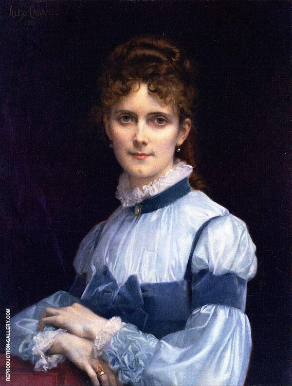 Fanny Clapp 1881 by Alexandre Cabanel | Oil Painting Reproduction Replica On Canvas - Reproduction Gallery