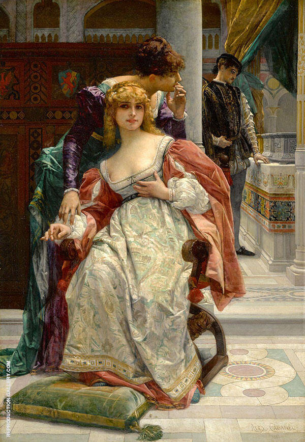 La Belle Portia by Alexandre Cabanel | Oil Painting Reproduction Replica On Canvas - Reproduction Gallery