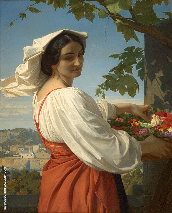 La Chiaruccia 1848 Painting By Alexandre Cabanel - Reproduction Gallery