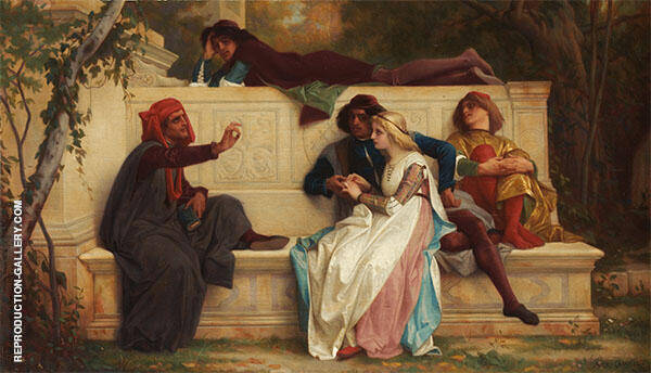 Florentine Poet 1861 Painting By Alexandre Cabanel - Reproduction Gallery