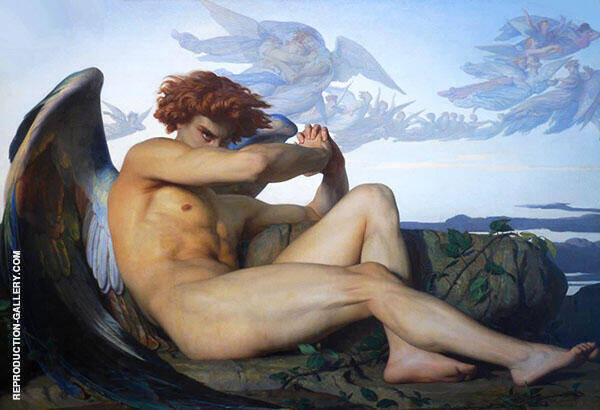 Lucifer Expelled from Heaven Painting By Alexandre Cabanel