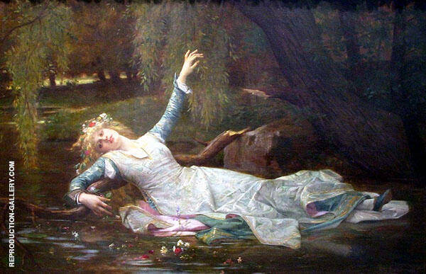 Ophelia by Alexandre Cabanel | Oil Painting Reproduction Replica On Canvas - Reproduction Gallery