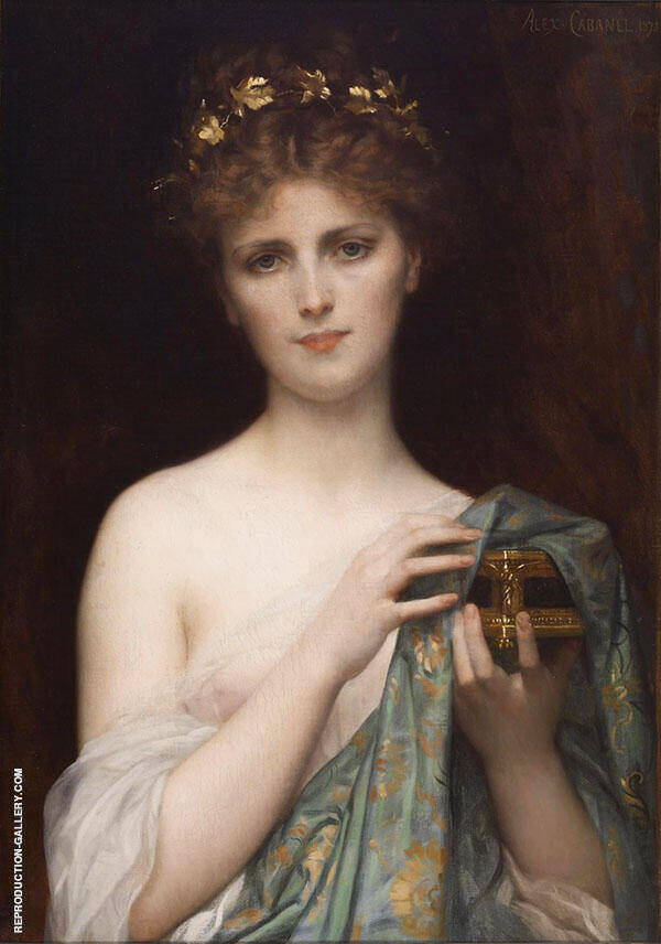Pandora 1873 by Alexandre Cabanel   Oil Painting Reproduction Replica On Canvas - Reproduction Gallery