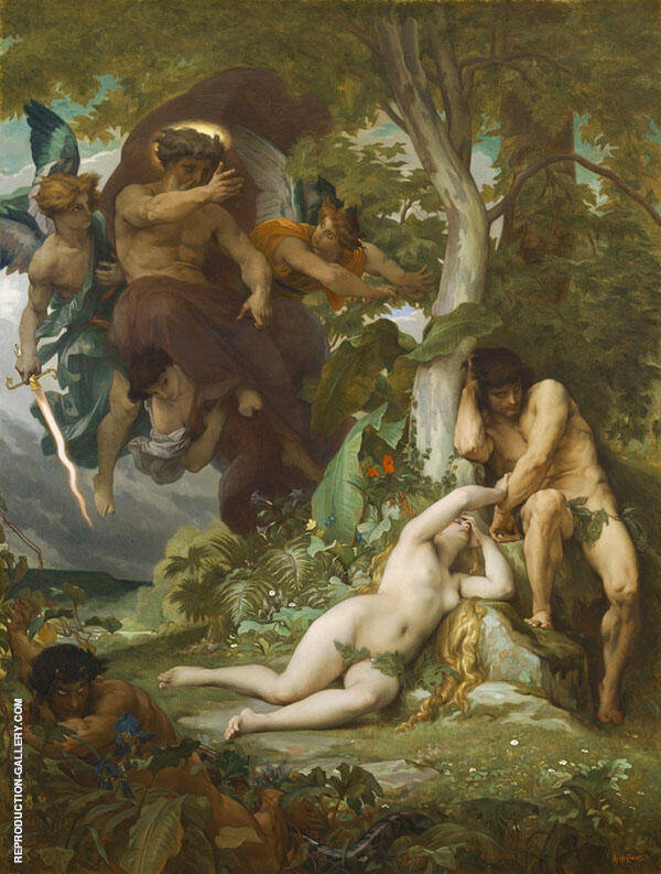 Paradise Lost 1867 Painting By Alexandre Cabanel - Reproduction Gallery