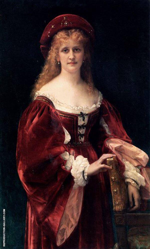 Patricienne de Venise Painting By Alexandre Cabanel - Reproduction Gallery
