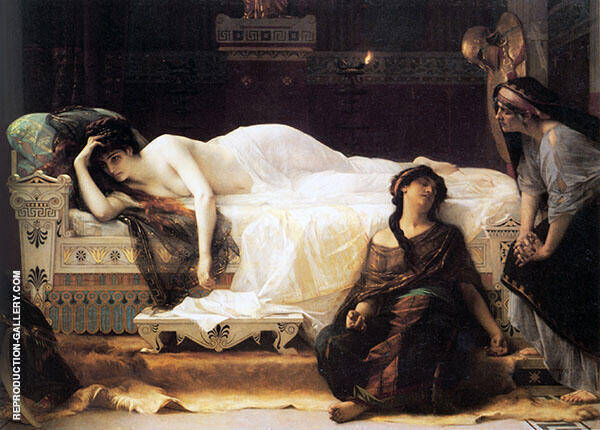 Phaedra 1880 by Alexandre Cabanel | Oil Painting Reproduction Replica On Canvas - Reproduction Gallery