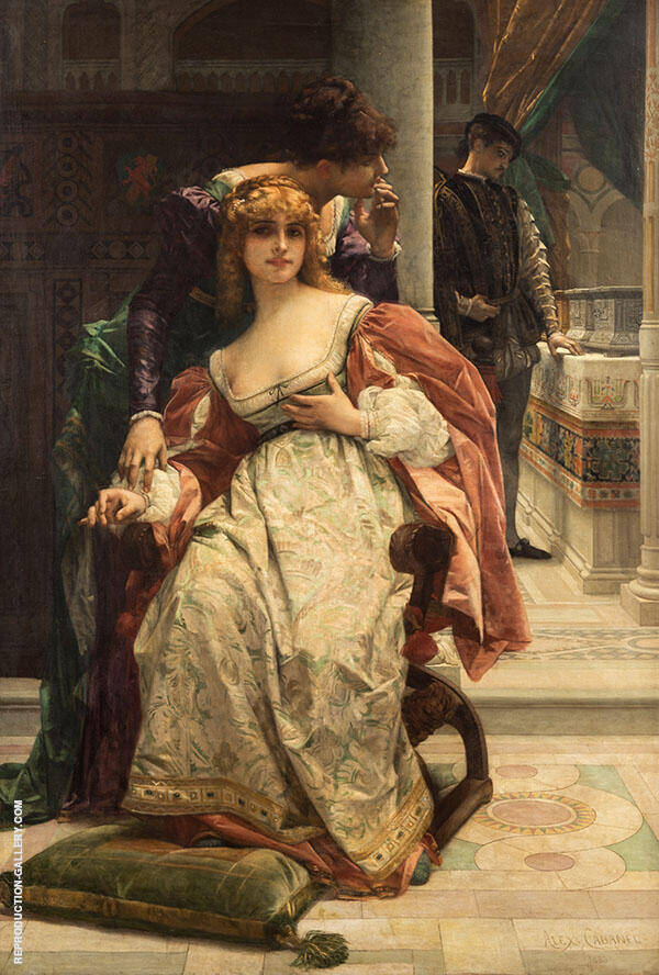 Portia and The Caskets Scene from The Merchant of Venice Painting By ...