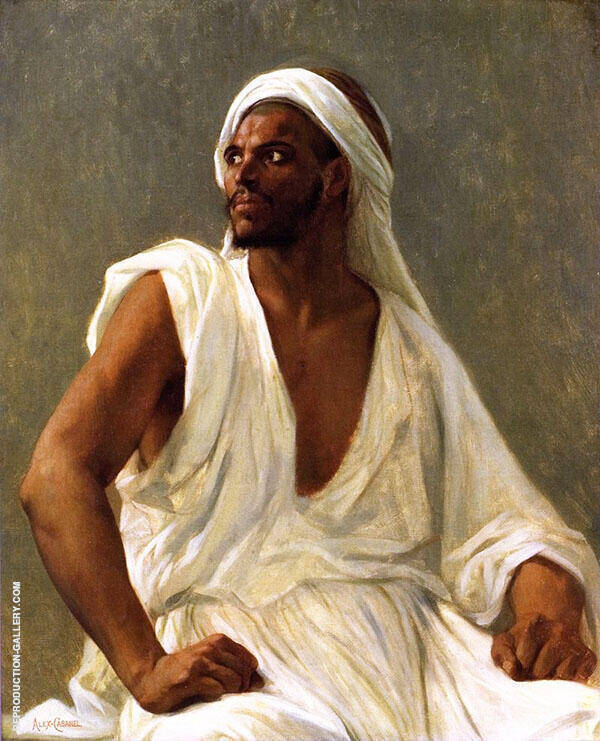 Portrait of An Arab Painting By Alexandre Cabanel - Reproduction Gallery