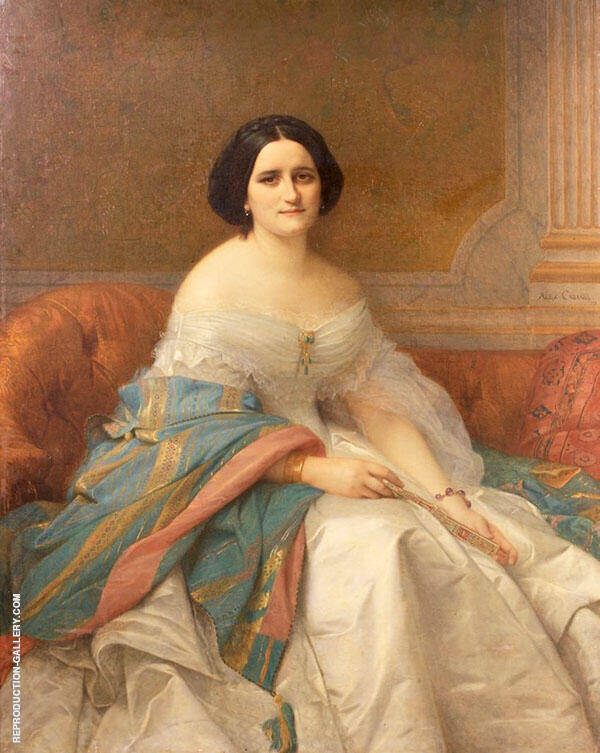 Portrait of Masam Isaac Pereire Painting By Alexandre Cabanel
