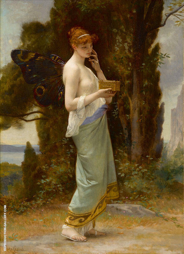 Psyche 1881 by Alexandre Cabanel | Oil Painting Reproduction Replica On Canvas - Reproduction Gallery