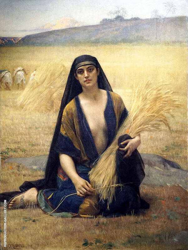 Ruth in The Field of Boaz Painting By Alexandre Cabanel