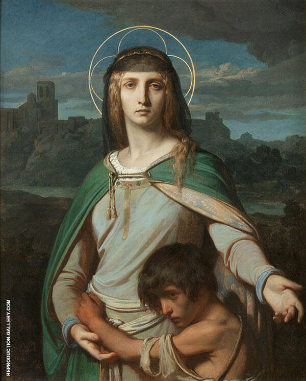 Saint Monica in a Landscape 1845 Painting By Alexandre Cabanel