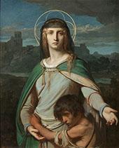 Saint Monica in a Landscape 1845 By Alexandre Cabanel