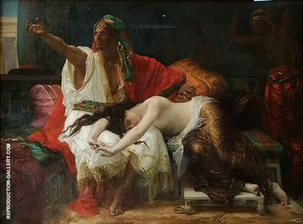 Thamar by Alexandre Cabanel | Oil Painting Reproduction Replica On Canvas - Reproduction Gallery
