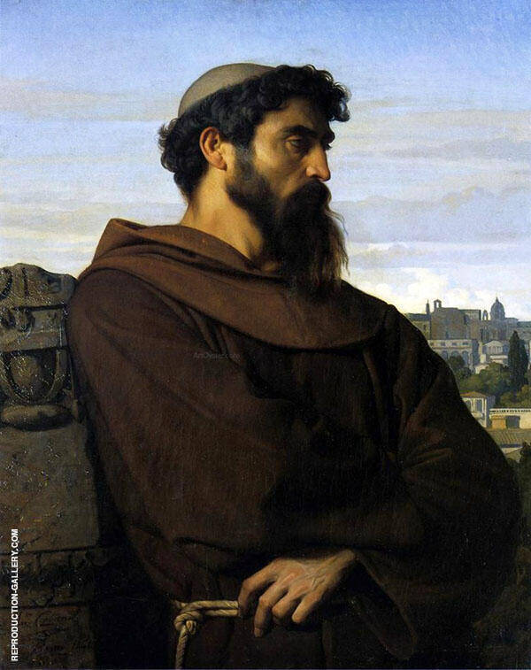 The Roman Monk by Alexandre Cabanel | Oil Painting Reproduction Replica On Canvas - Reproduction Gallery