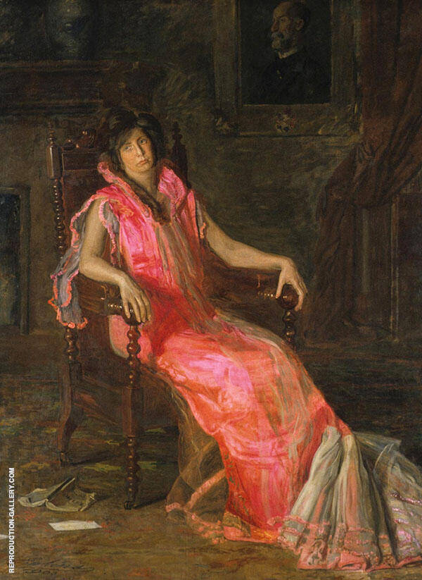 An Actress Portrait of Suzanne Santje Painting By Thomas Eakins