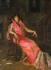 An Actress Portrait of Suzanne Santje By Thomas Eakins