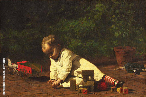 Baby at Play Painting By Thomas Eakins - Reproduction Gallery