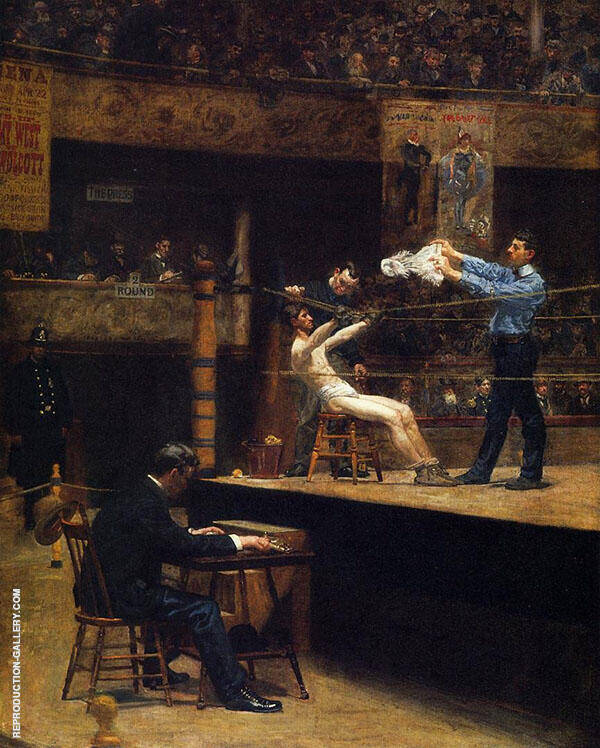 Between Rounds Painting By Thomas Eakins - Reproduction Gallery