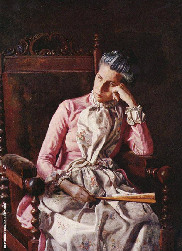 Miss Amelia van Buren Painting By Thomas Eakins - Reproduction Gallery