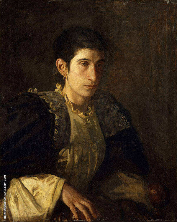 Signora Gomez d'Arza c1901 Painting By Thomas Eakins
