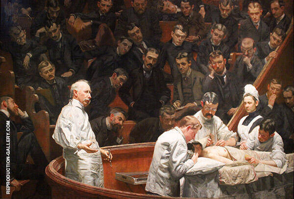 The Agnew Clinic Painting By Thomas Eakins - Reproduction Gallery
