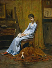 The Artist's Wife and His Setter Dog c1884 By Thomas Eakins