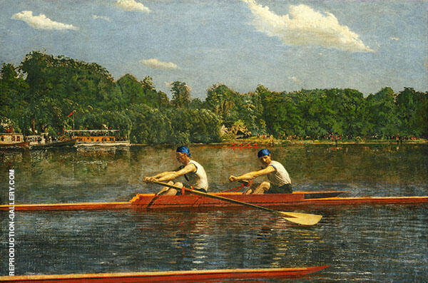 The Biglin Brothers Racing Painting By Thomas Eakins