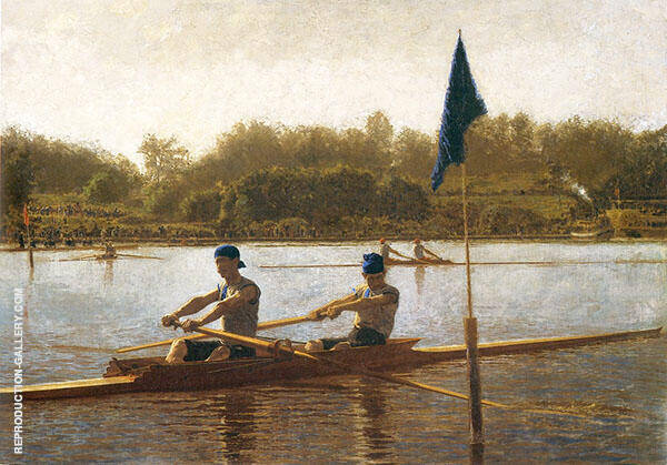 The Biglin Brothers Turning The Stake Boat Painting By Thomas Eakins